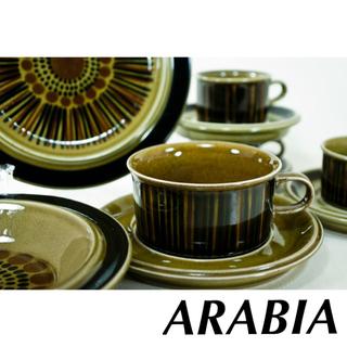 アラビア(ARABIA)の【ARABIAアラビア】Kosmos/コスモス ティーカップ&ソーサー2客セット(食器)