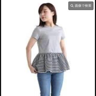 バーニーズニューヨーク(BARNEYS NEW YORK)のボーダーズアットバルコニー 36 グレー(Tシャツ(半袖/袖なし))