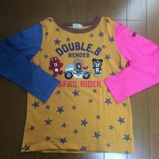 ダブルビー(DOUBLE.B)の美品❤︎ダブルBアップリケ長袖Tシャツ❤︎130120バクプリ有(Tシャツ/カットソー)