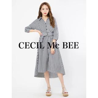 CECIL McBEE - CECIL Mc BEE ブロッキングストライプシャツワンピ