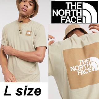 THE NORTH FACE - ノースフェイス ボックスロゴ Tシャツ 半袖 希少 ベージュ USモデル L