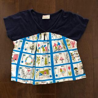 ニードルワークスーン(NEEDLE WORK SOON)のニードルワーク 半袖 北欧柄 100(Tシャツ/カットソー)