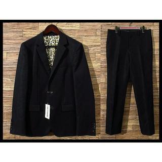 WACKO MARIA - 美品 ワコマリア 15SS イタリア製オルメザーノ 裏地レオパード スーツ L黒