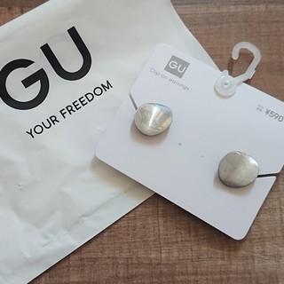 ジーユー(GU)の《完売》GU ジーユー メタルカーブサークルイヤリング シルバー(イヤリング)