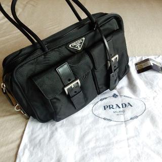 プラダ(PRADA)のPRADA プラダ ハンドバック 黒 中古(ハンドバッグ)
