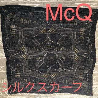アレキサンダーマックイーン(Alexander McQueen)の値下げ!【McQ】シルクスカーフ(ストール/パシュミナ)