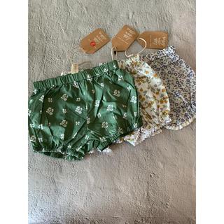 ザラキッズ(ZARA KIDS)の新品 花柄ショートパンツ かぼちゃパンツ 韓国子供服(パンツ)