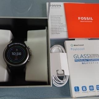 フォッシル(FOSSIL)の【値下げ❗】スマートウォッチ FOSSIL SPORTS FTW4019 黒 (腕時計(デジタル))