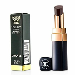 CHANEL - CHANEL ROUGE COCO SHINE 128 NOIR MODERNE