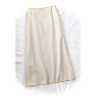 シビラ(Sybilla)の新品同様シビラ綿オフホワイト白シンプル夏サマーロングスカートM(ロングスカート)
