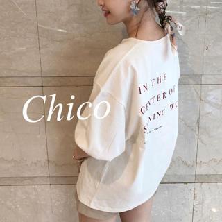 who's who Chico - 今季♡5分袖BACKプリントビックT ヘザー ナイスクラップ スナイデル kbf