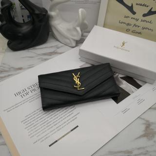 Yves Saint Laurent Beaute - ♪超人気YSL イヴサンローラン長財❤布 ブラック 小銭♪入れ