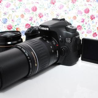 キヤノン(Canon)の◆超人気◆Canon 70D ダブルレンズセット(デジタル一眼)