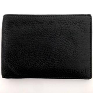 グッチ(Gucci)のグッチ 高級カーフ 2つ折り財布 292534 メンズ 黒(折り財布)