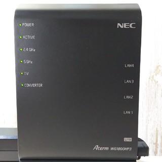 エヌイーシー(NEC)のNEC 無線ルーター Aterm WG1800HP3(PC周辺機器)