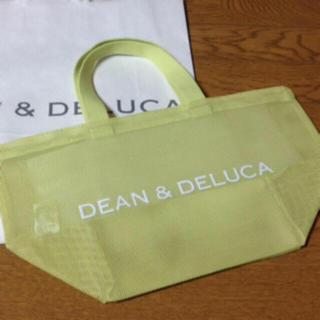ディーンアンドデルーカ(DEAN & DELUCA)の新品 DEAN&DELUCA 限定 メッシュ トートバック S ライムグリーン(トートバッグ)