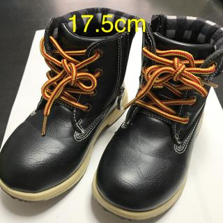 子供用 黒ブーツ 17.5cm(ブーツ)