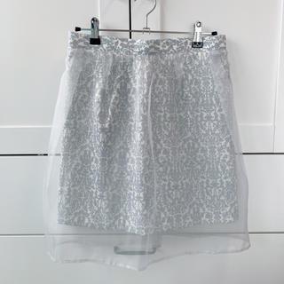 ジルバイジルスチュアート(JILL by JILLSTUART)のジル スチュアートのチュール付きスカート(ミニスカート)
