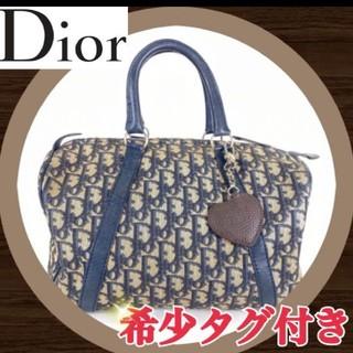 クリスチャンディオール(Christian Dior)のDior トロッター ミニボストンバッグ ベージュ ネイビー(ボストンバッグ)