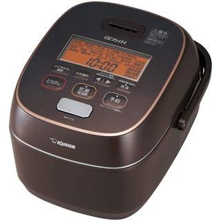ゾウジルシ(象印)の象印 炊飯器 圧力IH式 5.5合 極め炊き 鉄器コート豪熱羽釜 ブラウン NW(炊飯器)
