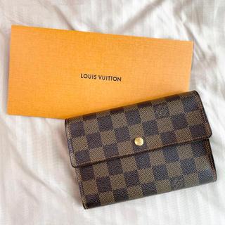ルイヴィトン(LOUIS VUITTON)のルイヴィトン ダミエ 三つ折り 財布(財布)