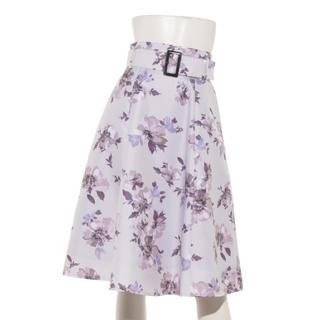 Apuweiser-riche - 人気 雑誌掲載 アプワイザーリッシェ 花柄 ベルト付き フレア スカート