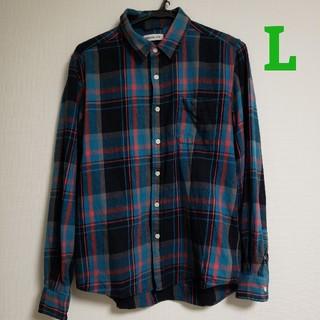 BROWNY - BROWNY ネルシャツ チェックシャツ Lサイズ 長袖 メンズ ZARA