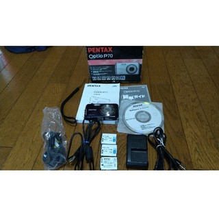 ペンタックス(PENTAX)のPENTAX Optio P70 デジカメ カメラ 青(コンパクトデジタルカメラ)