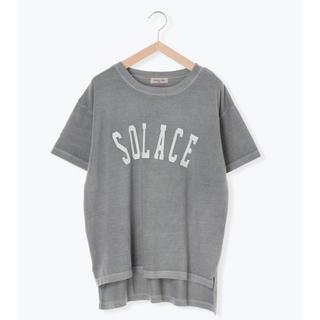 サマンサモスモス(SM2)の期間限定お値段下げます。ピグメント加工ロゴプリントTシャツ(夏カタログ)(Tシャツ/カットソー(半袖/袖なし))