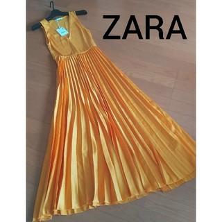 ZARA - 新品♪ZARA★ロングプリーツワンピース
