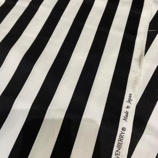 112幅×115cm ストライプ柄 黒 白 布 生地 コットン(生地/糸)