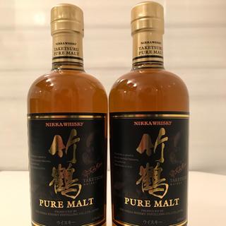 ニッカウイスキー(ニッカウヰスキー)の竹鶴ピュアモルト終売品2本セット(ウイスキー)