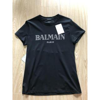 バルマン(BALMAIN)のBALMAINバルマン新品❗️ロゴ Tシャツ ブラックXSサイズ(Tシャツ/カットソー(半袖/袖なし))