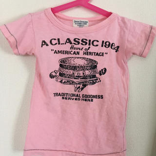 デニムダンガリー(DENIM DUNGAREE)のデニム&ダンガリー ハンバーガーテイシャツ 100(Tシャツ/カットソー)