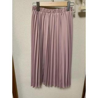 シマムラ(しまむら)の【美品】膝丈プリーツスカート ピンク(ひざ丈スカート)
