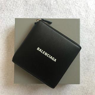 バレンシアガ(Balenciaga)のBALENCIAGA バレンシアガ  ラウンドファスナー 折り財布 ブラック(財布)