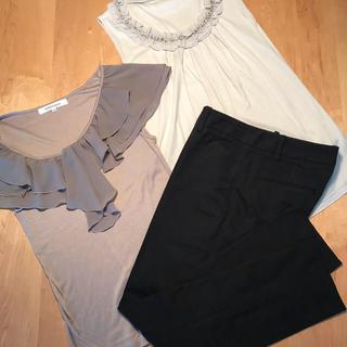エムプルミエ(M-premier)のM-PREMIERカットソー/Theory パンツセット(Tシャツ(半袖/袖なし))