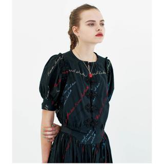 ビームスボーイ(BEAMS BOY)のmaturely YIN-YANG Embroidery Blouse(シャツ/ブラウス(半袖/袖なし))