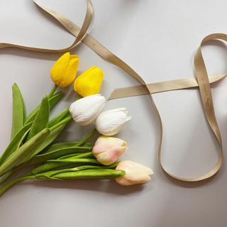 韓国 チューリップ 造花 2本セット(置物)