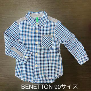 ベネトン(BENETTON)のBENETTON 長袖シャツ キッズ90サイズ(Tシャツ/カットソー)