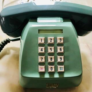 昭和レトロ プッシュ式 電話機(置物)