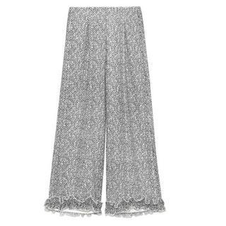 Lily Brown - リリーブラウン カット裾 フリルパンツ