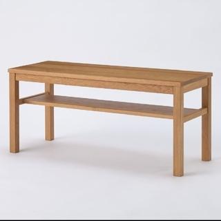 ムジルシリョウヒン(MUJI (無印良品))の無印良品 無垢材収納棚付ベンチ・オーク材(ローテーブル)