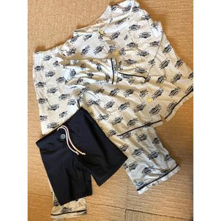 ワコール(Wacoal)のワコールパジャマと紺スクール水着のセット 110サイズ(パジャマ)