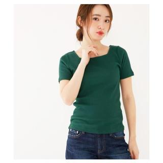 アバンリリー(Avan Lily)の新品 Avan Lily スクエアネックテレコトップス カットソー シャツ(カットソー(半袖/袖なし))