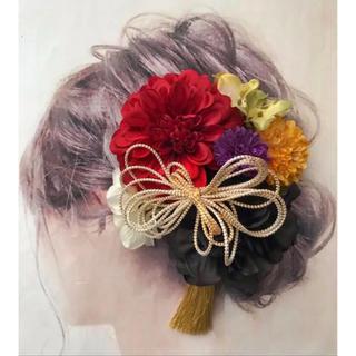 愛らしい髪かざり 袴 卒業式 結婚式 成人式 前撮りに はかまにかみかざり(その他)