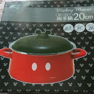 ディズニー(Disney)のディズニー ミッキー ホーロー鍋(鍋/フライパン)