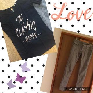 スライ(SLY)のメゾンスコッチTシャツ&SLYギンガムチェックパンツ セット(スキニーパンツ)