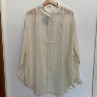 しまむら - しまむら プチプラのあや PAバンドネックシャツ サイズL