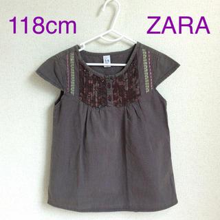 ザラキッズ(ZARA KIDS)のZARA 118cm フレンチスリーブカットソー (g120-8)(Tシャツ/カットソー)